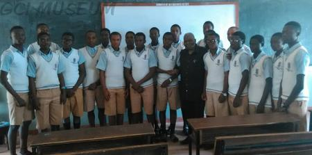 Chris Kolade with GCI Students