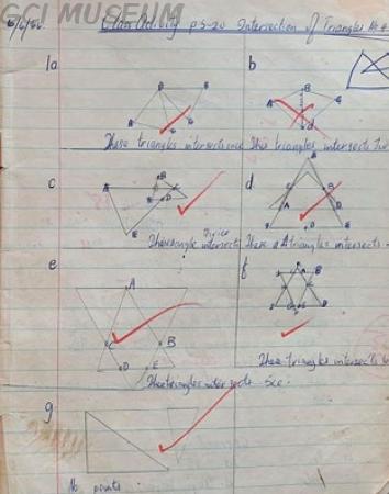 Rotimi Jaiyesimi (1966) Maths Script in 1966 at GCI