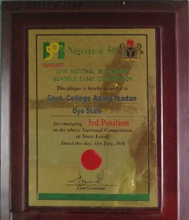 Award,National Essay Competition,GCI