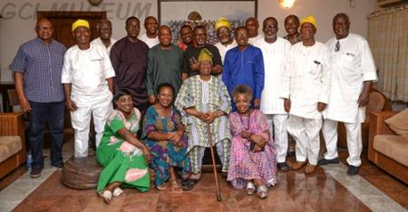 The Alades and Chief Olusegun Obasanjo