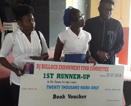 Queen Shool Ibadan Came Second At The DJ Bullock Inter-School Theatre For SDGs Contest