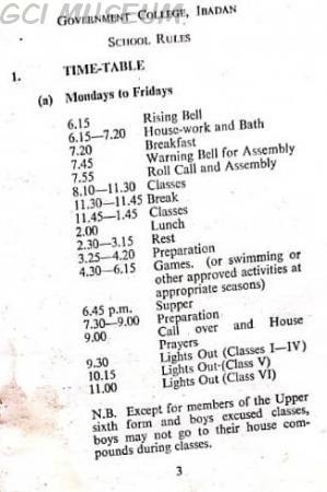 GCI School Rules
