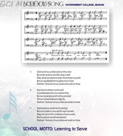 Tonic Sol-fa of GCI School Song
