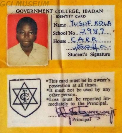 School ID Card of the mid 70's