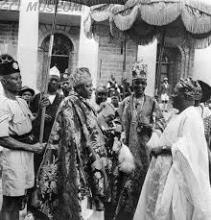 Late Adeniyi Ademola (Alake of Egbaland, Late Adebambo Adesanya (Awujale of Ijebuland) and Late Adesoji Aderemi (Ooni of Ife)
