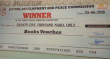 GCI's JDPC Twenty-five Thousand Naira Book Voucher