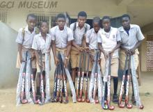 Jide Owoeye (1968) Donates Hockey Sticks To GCI