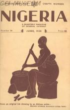 Ibrahim Uthman's Cover Drawing of Nigeria Magazine June 1938