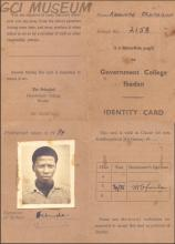 Segun Kehinde's GCI School ID Card
