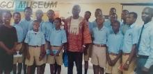 Prof. Niyi Osundare and GCI students