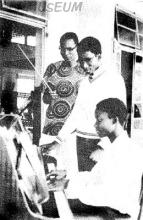 GCI Music Conductor & Choristers (Omideyi T. (1967) & Gbolade Babatunde (1966) in 1971